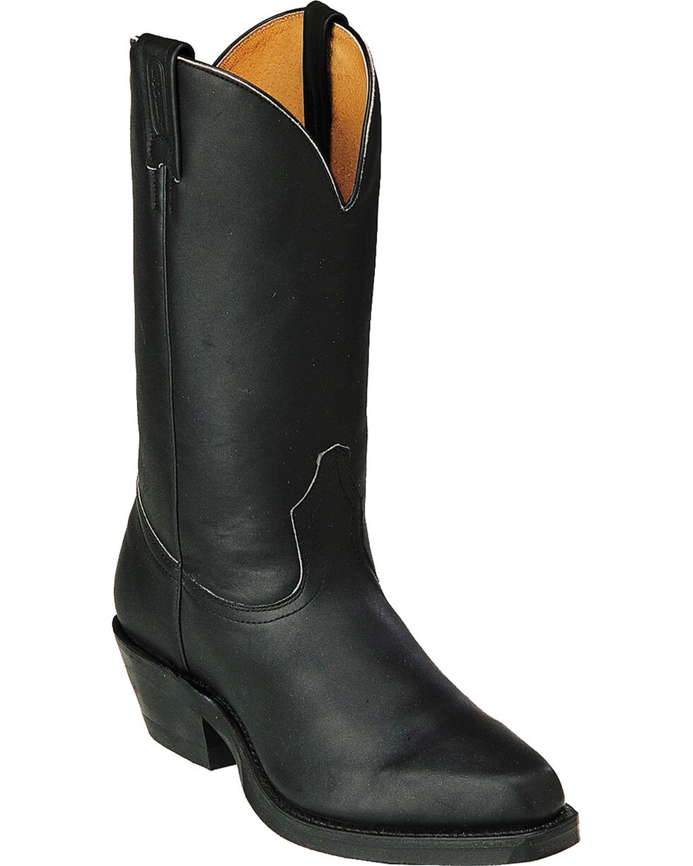Boulet Western Motorcycle Boots - Round Toe, Black, hi-res