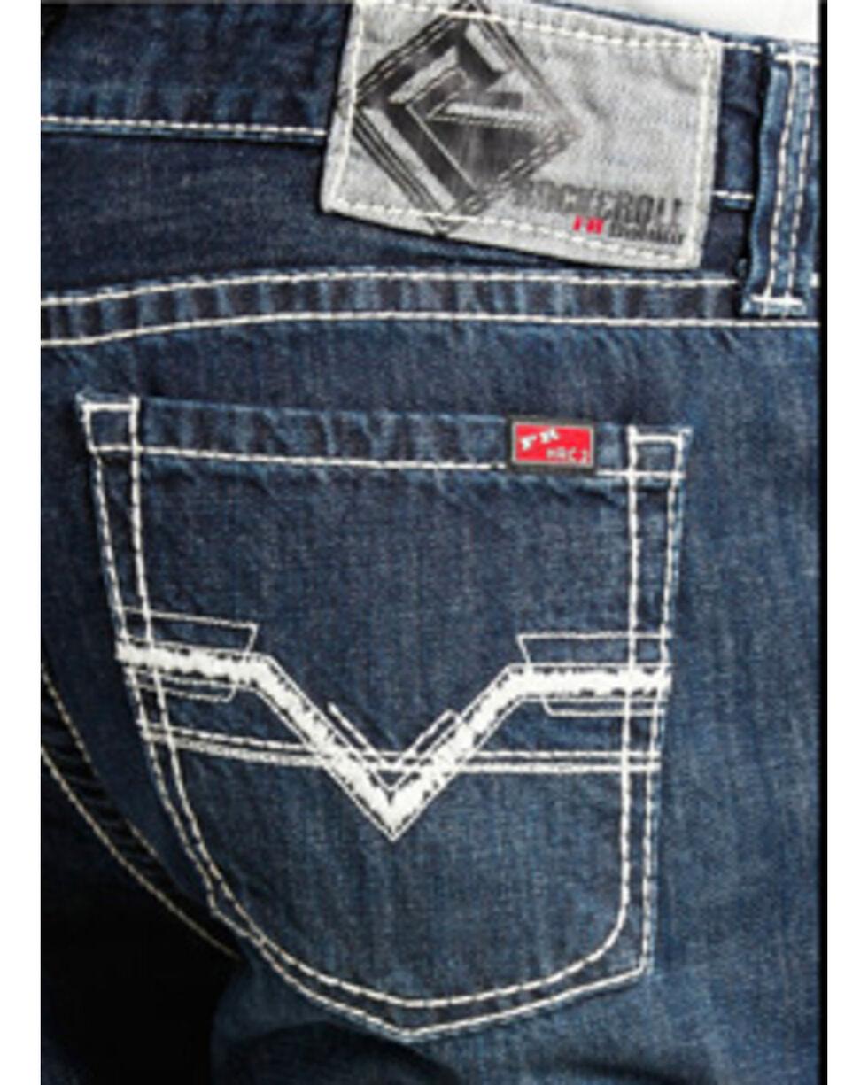 Rock and Roll Cowboy Pistol Regular Fit Flame Resistant Jeans - Boot Cut , Indigo, hi-res
