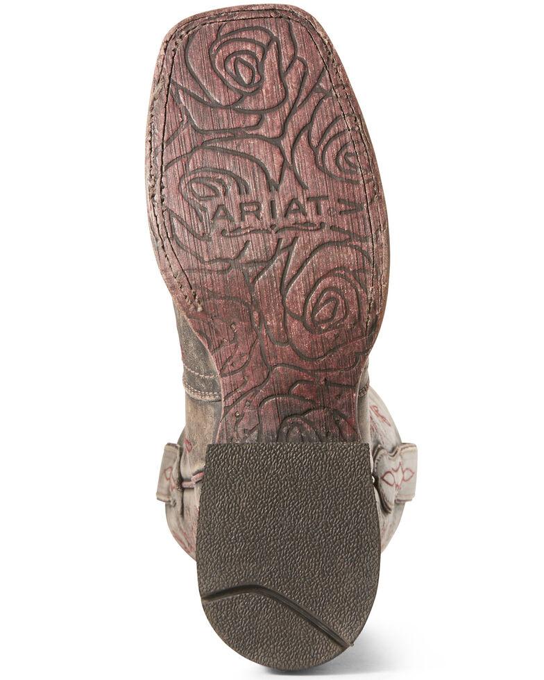 Ariat Women's Rosita London Fog Western Boots - Wide Square Toe, Dark Grey, hi-res