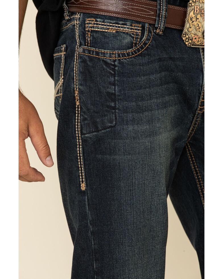 Rock & Roll Denim Men's Dark Reflex Double Barrel Relaxed Bootcut Jeans , Indigo, hi-res