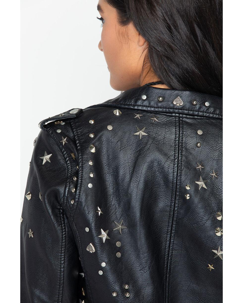 BLANKNYC Women's Black West Side Moto Jacket , Black, hi-res
