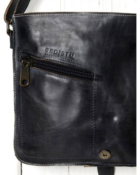 Bed Stu Women's Venice Beach Black Rustic Shoulder Bag, Black, hi-res