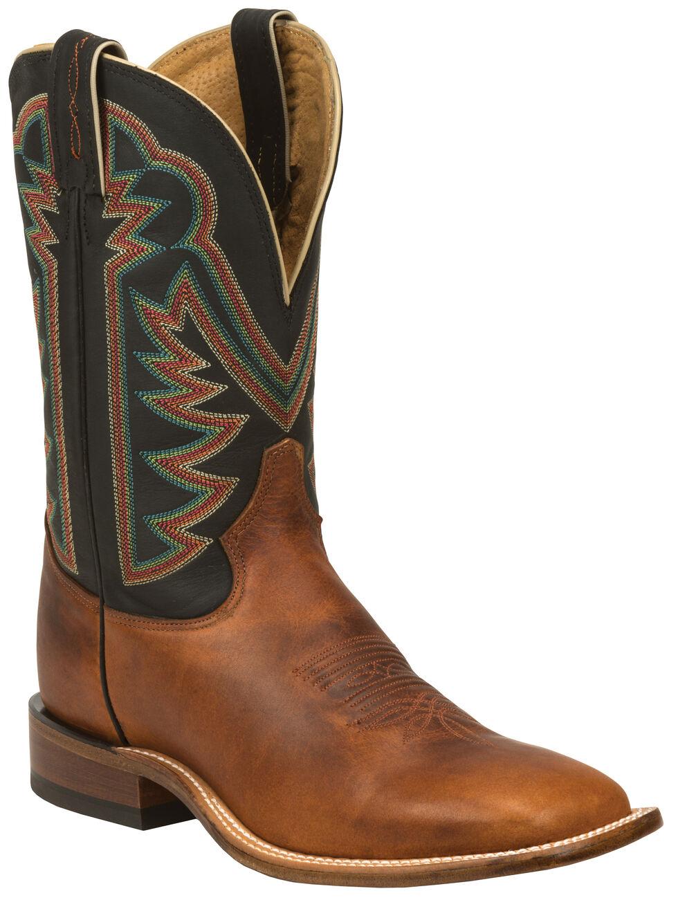 Tony Lama Tan Faded Ranch Cowboy Boots - Square Toe , Tan, hi-res