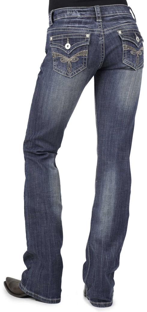 Stetson Women's 818 Rhinestone Bootcut Jeans - Plus, Denim, hi-res