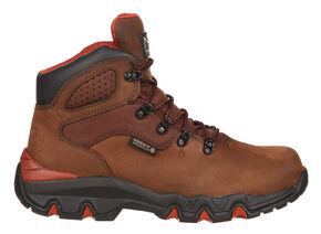 Rocky Bigfoot Waterproof Hiker Work Boots - Round Toe, Brown, hi-res