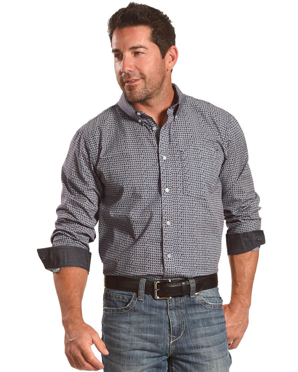 Cody James Men's Kodiak Print Long Sleeve Shirt, Blue, hi-res
