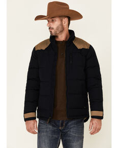 Moonshine Spirit Men's Navy Back Country Quilted Zip-Front Puffer Jacket, Navy, hi-res