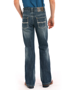 Rock & Roll Cowboy Boys' Double V Reflex Medium Boot Jeans , Blue, hi-res
