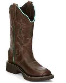 Justin Women's Raya Western Boots - Square Toe, Tan, hi-res
