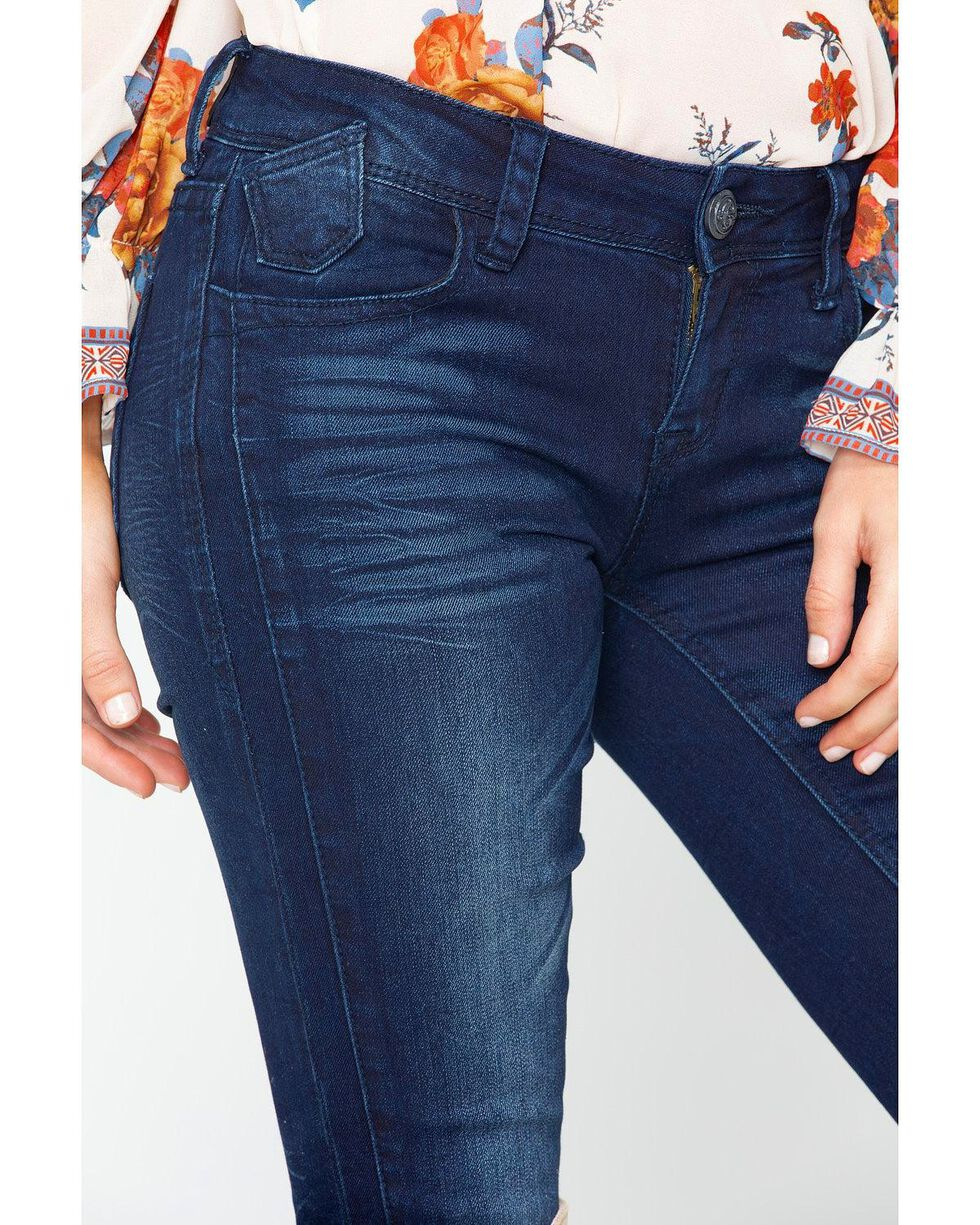 Grace in LA Women's Dark Blue Skinny Jeans, Indigo, hi-res