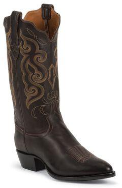 Tony Lama Signature Series Rista Calf Cowboy Boots - Medium Toe, Chocolate, hi-res