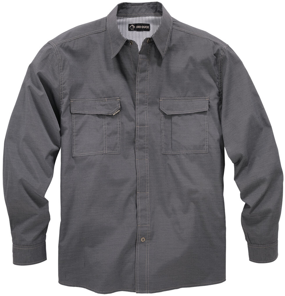 Dri Duck Men's Field Shirt - Big Sizes (3XL and 4XL), Black, hi-res