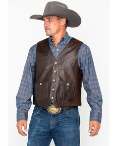 Outback Trading Co. Men's Wynard Button Pocket Vest , Brown, hi-res