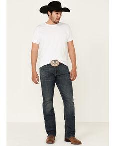 Wrangler 20X Men's Blue Bonnet Dark Stretch Slim Straight Jeans - Long, Blue, hi-res