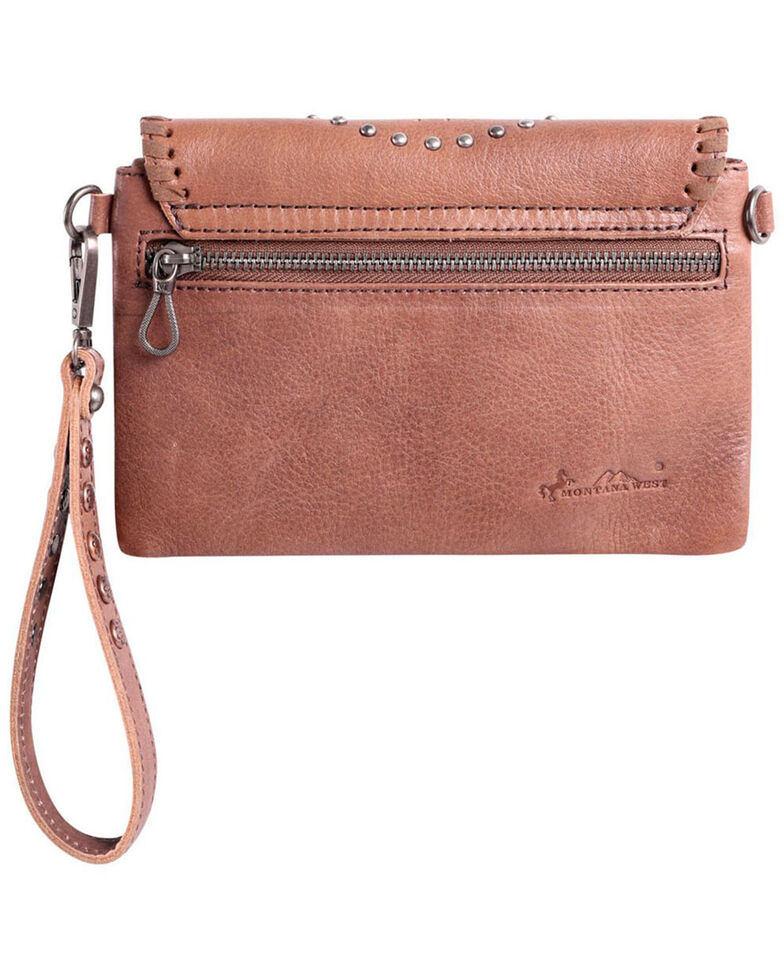 Montana West Women's Concho Crossbody Bag, Brown, hi-res