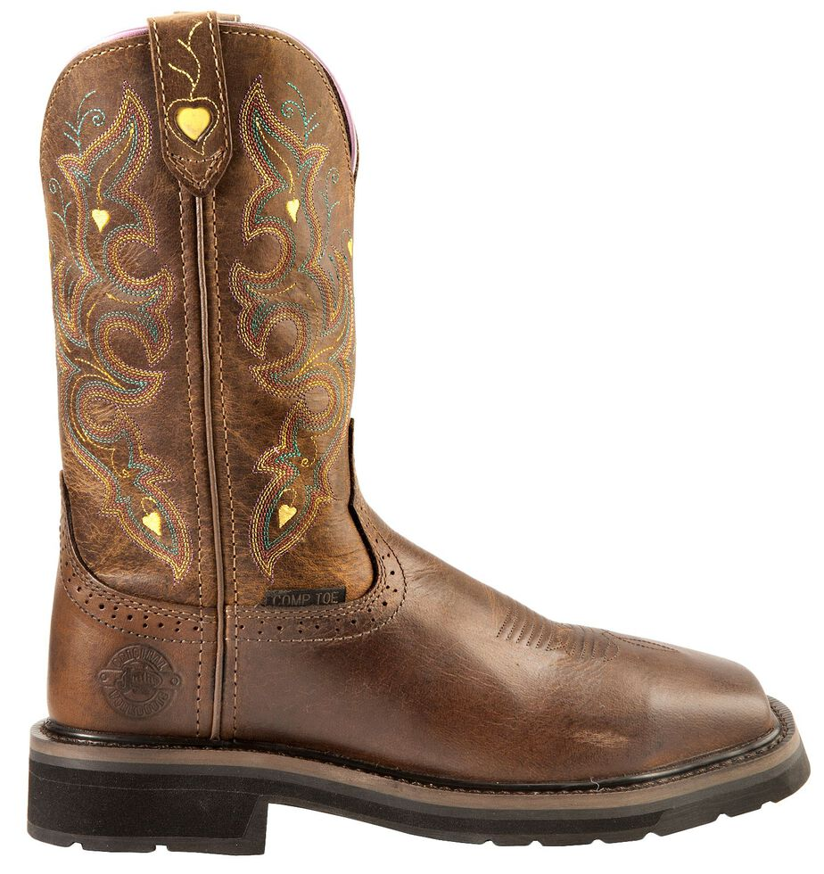Justin Women's Sunney Pull-On EH Work Boots - Composite Toe, Rugged, hi-res