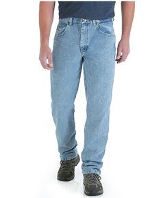 Wrangler Men's Vintage Indigo Wash Trail Trekker Relaxed Work Jeans - Big , Blue, hi-res