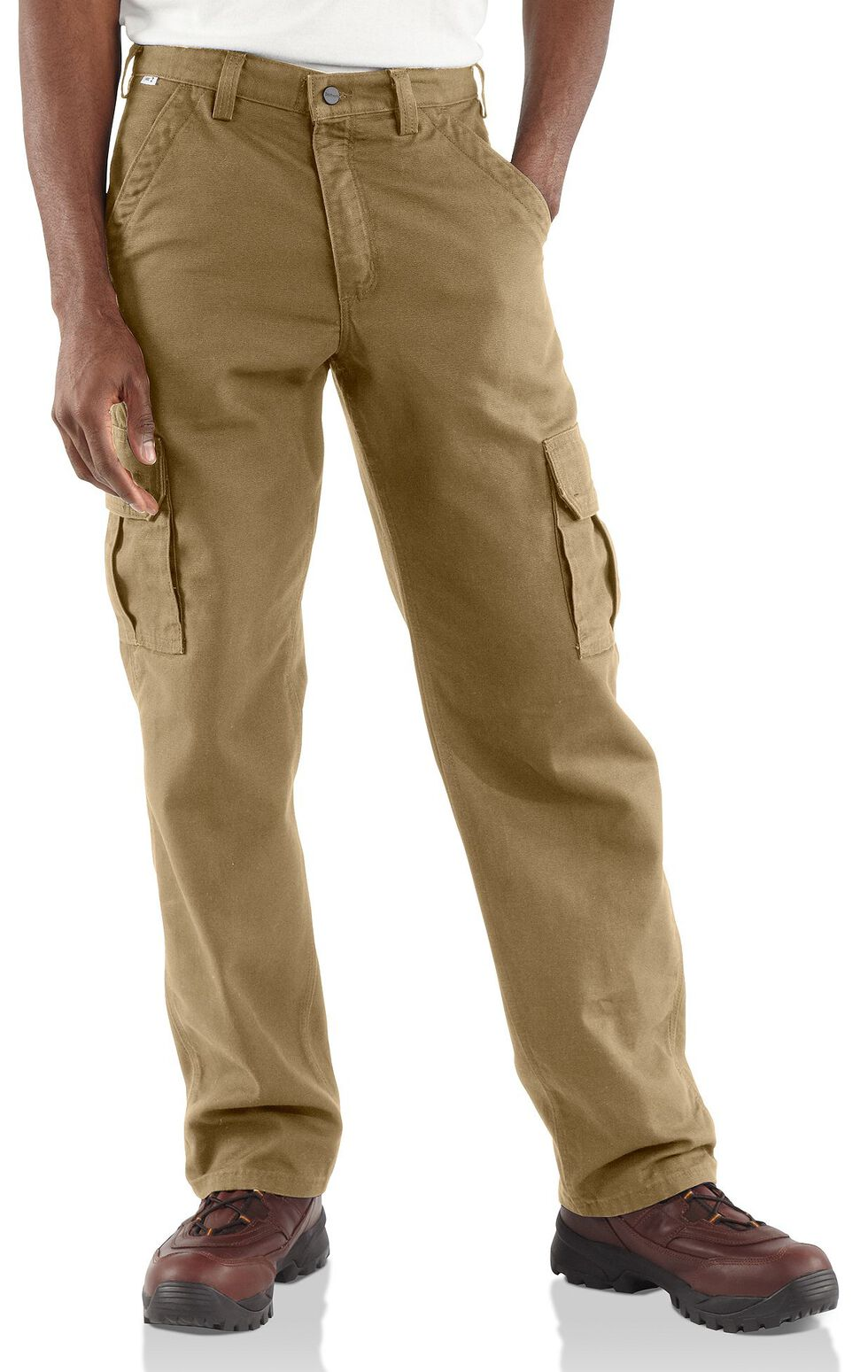 Carhartt Flame Resistant Canvas Cargo Pants - Big & Tall, Khaki, hi-res