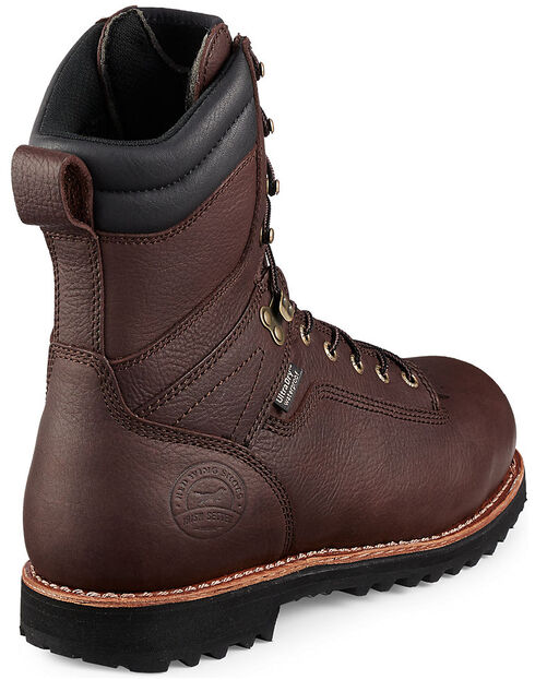 Red Wing Irish Setter Mesabi Insulated Logger Work Boots - Aluminum Toe  , Brown, hi-res