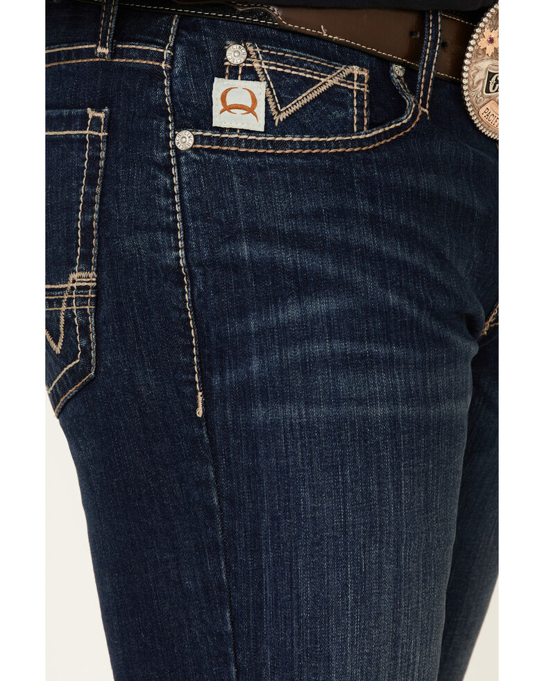 Cinch Men's Ian Rinse Dark Performance Stretch Slim Bootcut Jeans , Indigo, hi-res