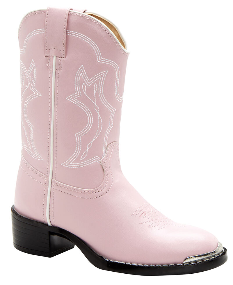 Durango Toddler Girls' Dusty Pink & Chrome Western Boots - Round Toe, , hi-res