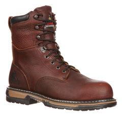 Rocky Men's IronClad Insulated Waterproof Work Boots, Brown, hi-res