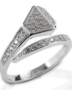 Kelly Herd Women's Offset Horseshoe Nail Ring , Silver, hi-res