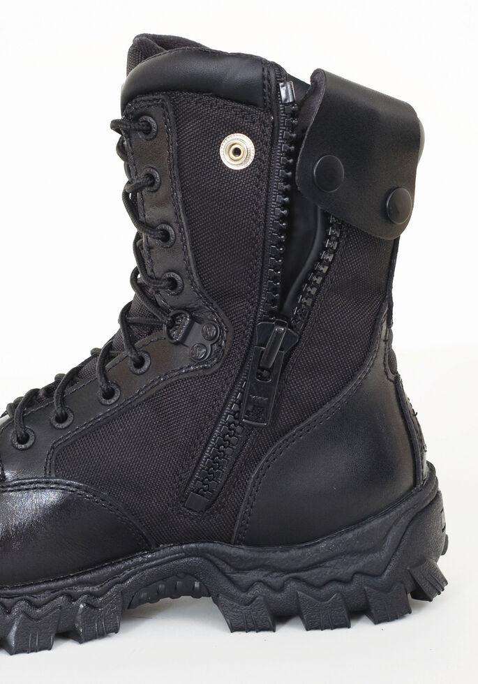 Rocky Men's Alphaforce Waterproof Zipper Duty Boots - Composite Toe, Black, hi-res