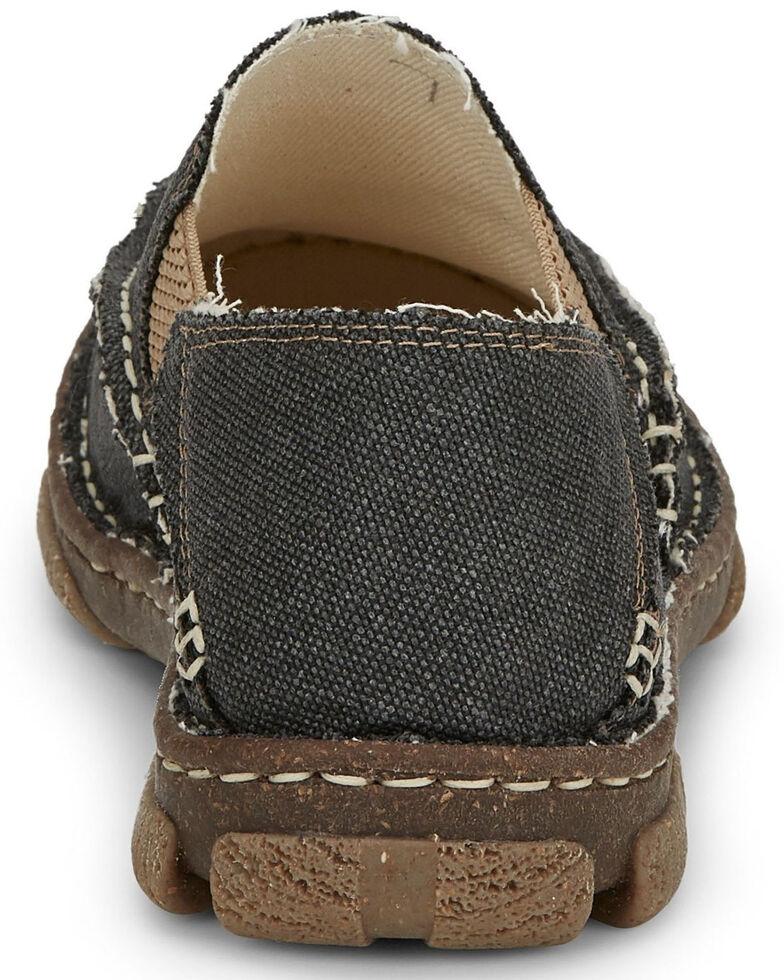 Tony Lama Men's Gator Charcoal Slip-On Shoes - Moc Toe, Grey, hi-res