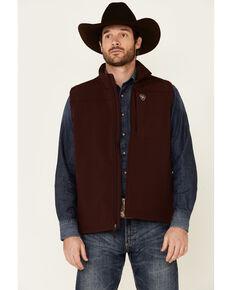 Ariat Men's Malbec Vernon 2.0 Performance Zip-Front Softshell Vest , Maroon, hi-res