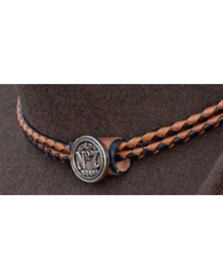 Jack Daniel's Twisted Leather Bend-A-Brim Wool Felt Crushable Cowboy Hat, Brown, hi-res