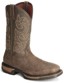 Rocky Men's Coffee Long Range Waterproof Pull-On Work Boots - Steel Toe, Coffee, hi-res