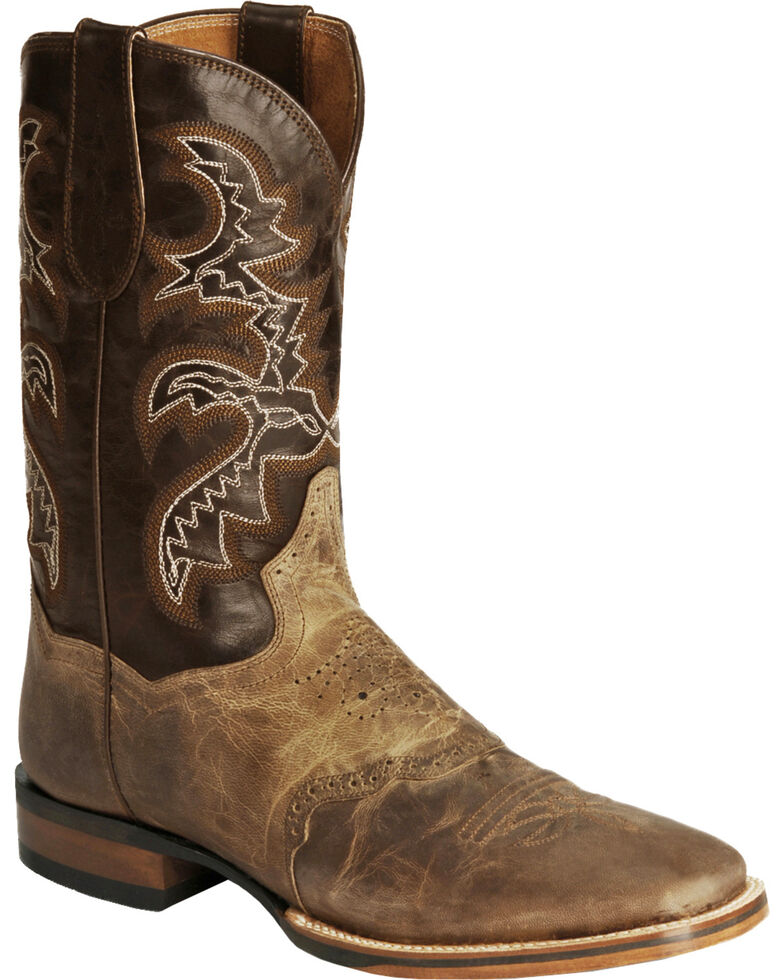 Dan Post Men's Gel-Flex Cowboy Certified Boots, Sand, hi-res