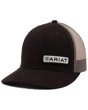 Ariat Men's Black Offset Patch Cap, Black, hi-res