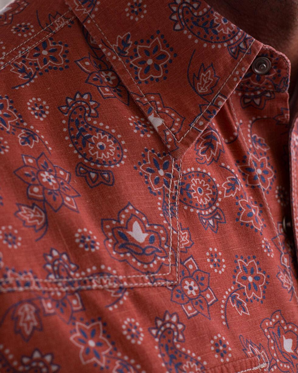 Ryan Michael Men's Clay Vintage Bandanna Print Shirt , Red, hi-res