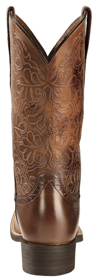 cbb5394d494 Ariat Rich Brown Round Up Remuda Cowgirl Boots - Square Toe