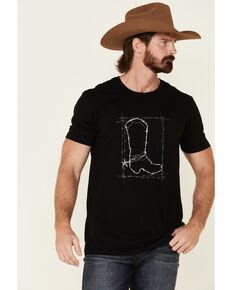 Cody James Men's Black Barbed Boot Graphic T-Shirt , Black, hi-res