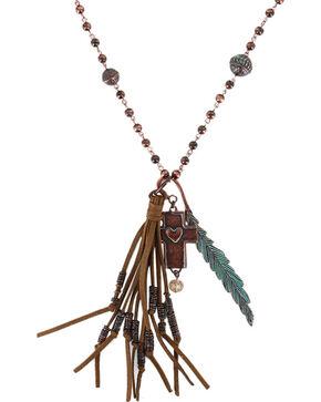 Shyanne Women's Fringe Pendant Necklace , Turquoise, hi-res
