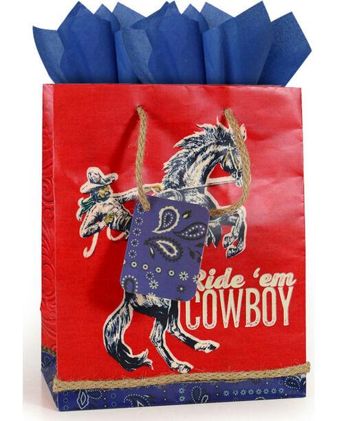 BB Ranch Ride 'em Cowboy Gift Bag with Tissue Paper, No Color, hi-res
