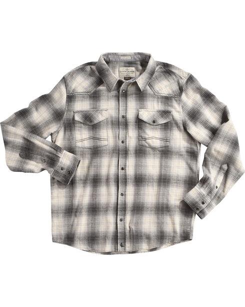 Cody James Men's Grey Kodiak Plaid Long Sleeve Shirt - Big & Tall, Grey, hi-res