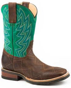 Roper Men's Garland Brown Western Boots - Square Toe, Brown, hi-res
