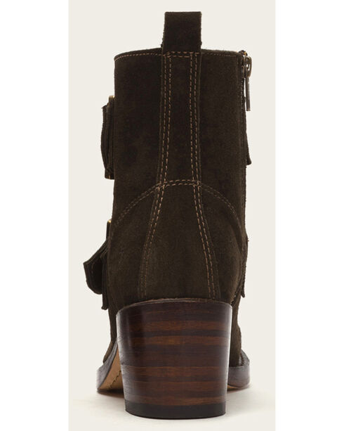 Frye Women's Sabrina Double Buckle Brown Suede Boots, Brown, hi-res