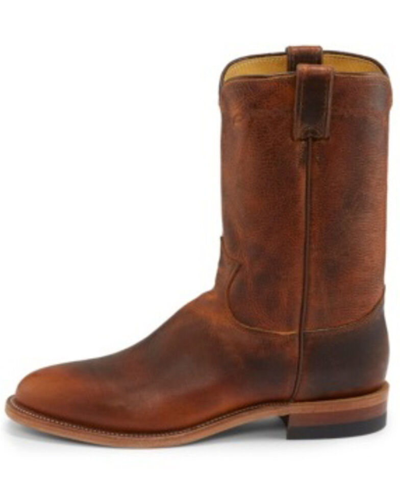 Justin Men's Brock Butterscotch Western Boots - Medium Toe, Tan, hi-res