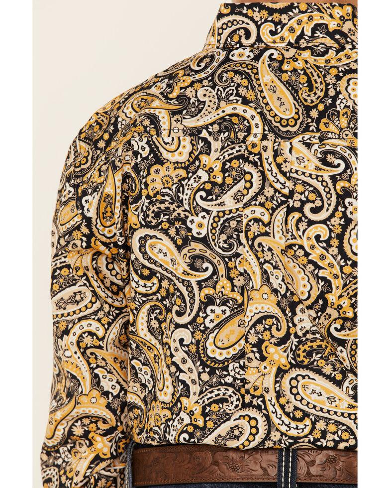 Cinch Boys' Navy Paisley Print Button Long Sleeve Western Shirt , Navy, hi-res