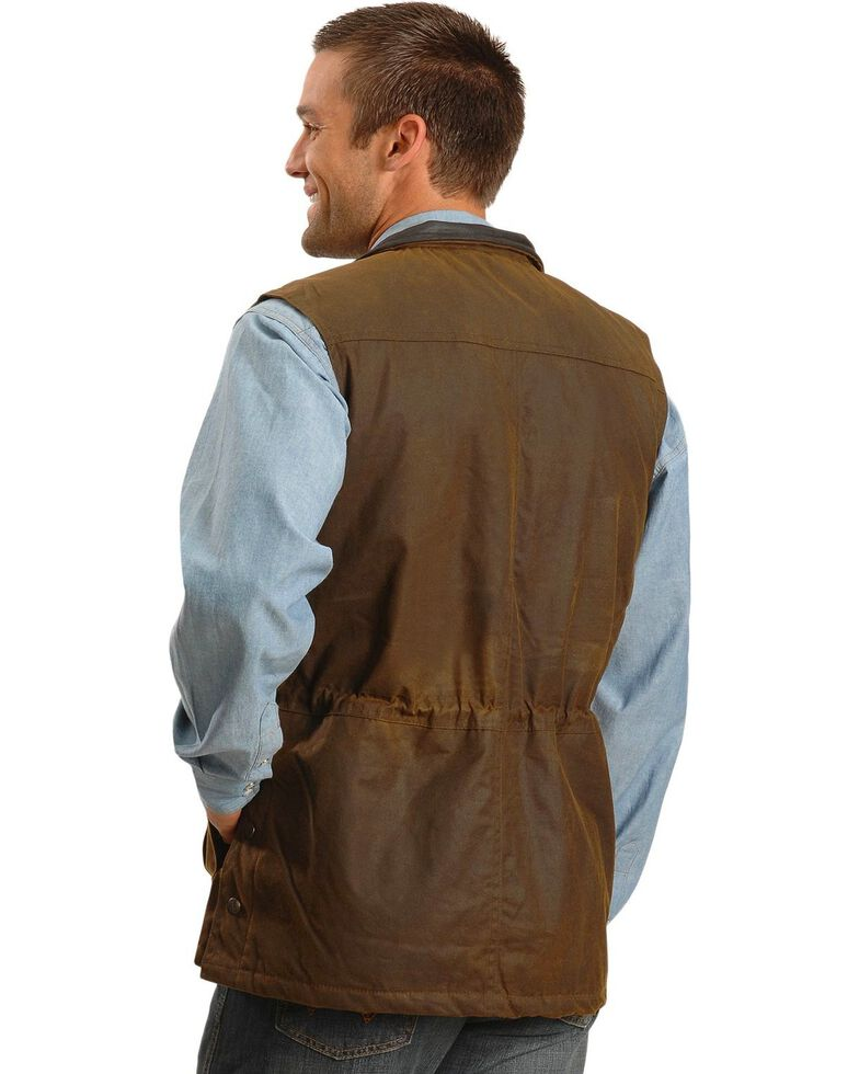 Outback Trading Co. Deer Hunter Oilskin Vest, Brown, hi-res