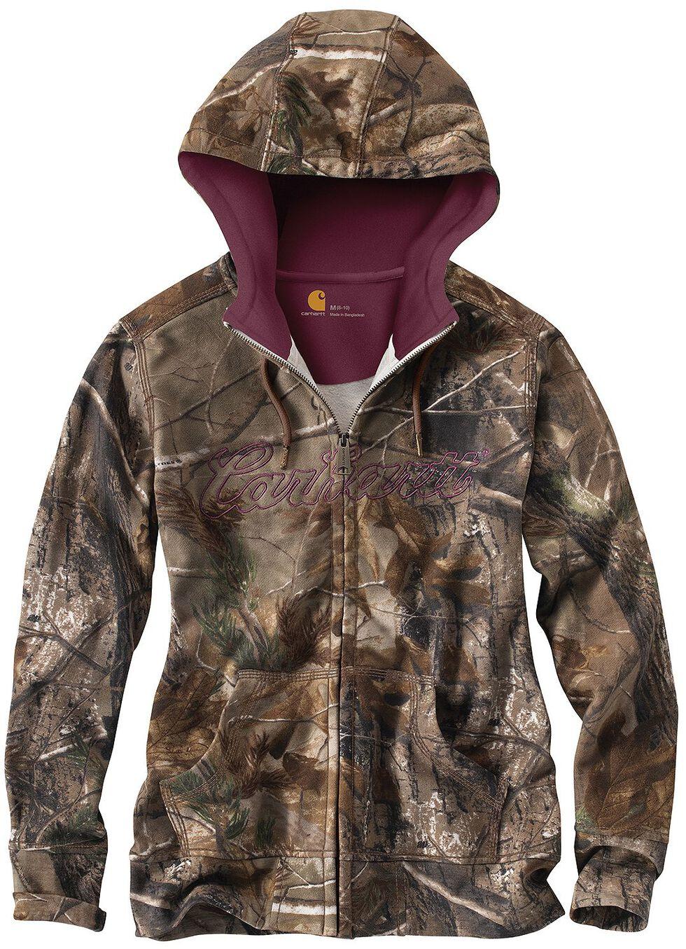 Carhartt Camo Zip Front Sweatshirt, , hi-res