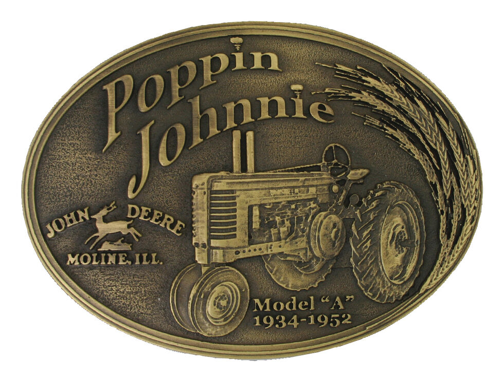 Montana Silversmiths Model A Poppin Johnnie Heritage Attitude Belt Buckle, Silver, hi-res