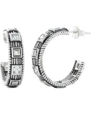 Montana Silversmiths Studded Ice Hoop Earrings, Silver, hi-res