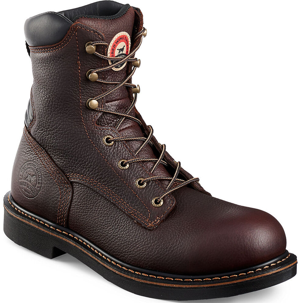 """Irish Setter by Red Wing Shoes Men's Farmington 8"""" EH Work Boots - Soft Round Toe, Brown, hi-res"""