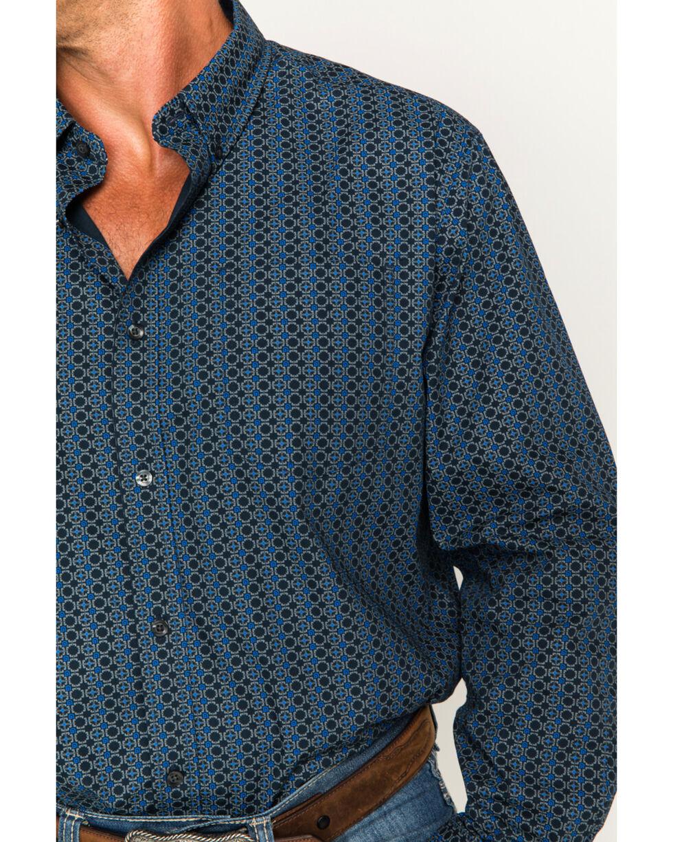 Cody James Men's Romal Geo Print Long Sleeve Button Down Shirt, Navy, hi-res